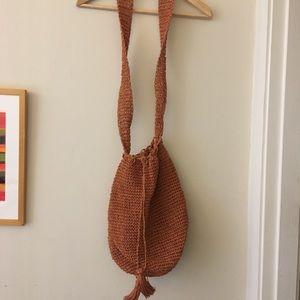 Jcrew straw shoulder bag